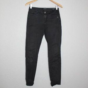 Maison Scotch Black Mid-Rise Skinny Jeans sz 27